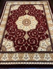 Jumbo Rugs Approx 11x8ft 240x340cm Woven Thick Quality Red-Beige XX LARGE RUGS